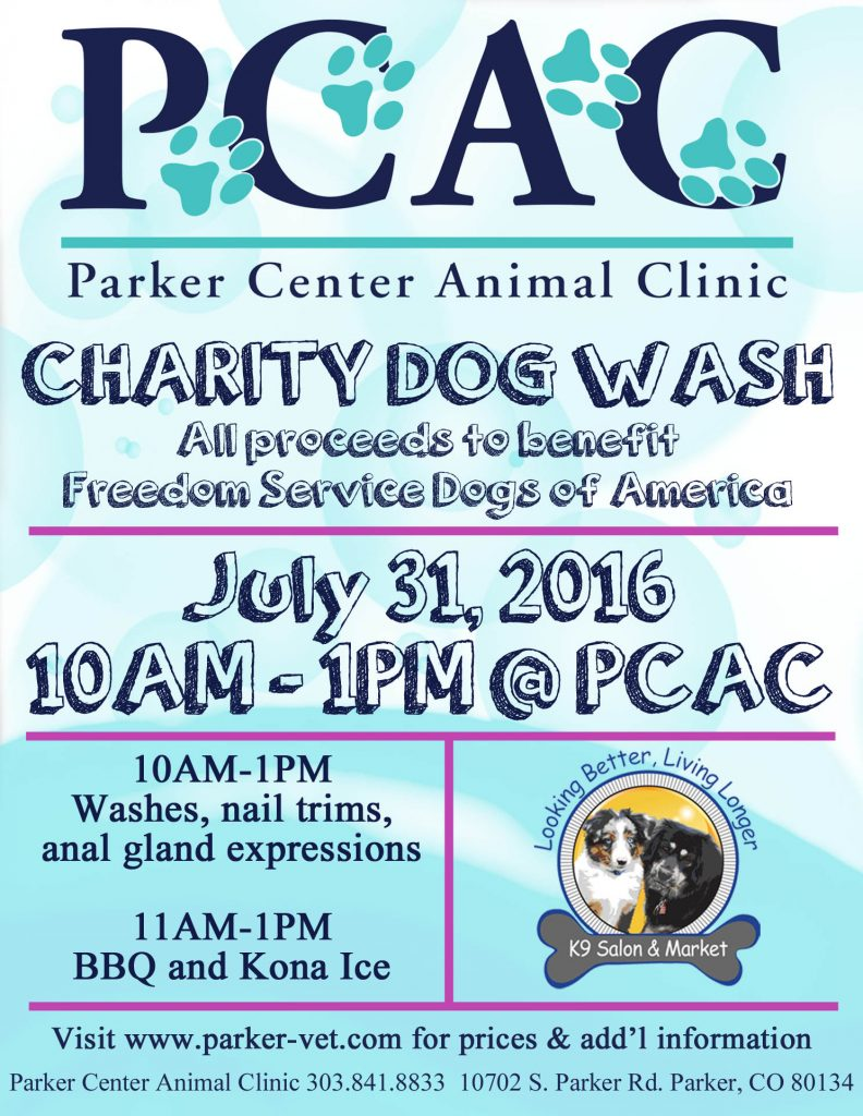 PCAC Charity Dog Wash 2016